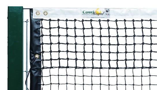 Tennisnetz 3,8 mm mit Doppelreihen und seitlicher Verstärkung