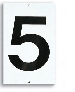 Platznummer einstellig